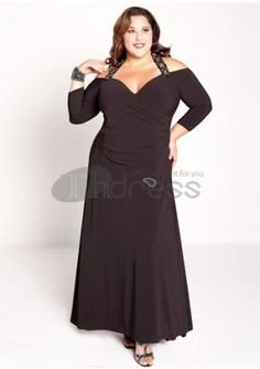 Plus Size Evening Dresses-plus size evening dress Gabrielle Gown in Black
