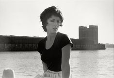 Cindy Sherman. Untitled Film Still #24. 1978. Gelatin silver print. 6 7/16 x 9 7/16 (16.4 x 24 cm) The Museum of Modern Art, New York. Purchase  The backdrop is one of the Holland Tunnel ventilation towers near Canal Street on the west side.