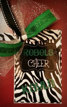 Personalized  Cheer Pom Team Bag Tag by RebelChickBoutique on Etsy, $7.00
