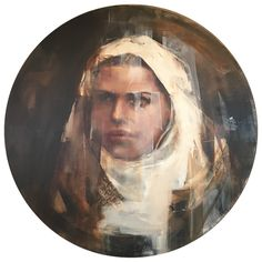 """""""There are no secrets that time doesn't reveal."""" x 115 Round Oil on polyester Nicole Pletts Contemporary Paintings, New Work, Mona Lisa, Fine Art, Artwork, Pictures, Oil, Portraits, Photos"""