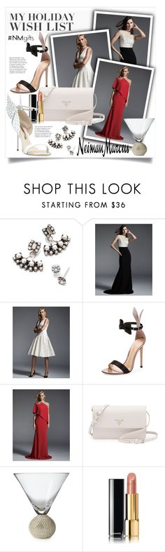 """""""The Holiday Wish List With Neiman Marcus: Contest Entry"""" by miee0105 ❤ liked on Polyvore featuring Neiman Marcus, DANNIJO, Carmen Marc Valvo, Gianvito Rossi, Prada, Chanel, Sophia Webster and NMgifts"""