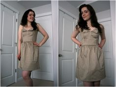 A new summer dress with a cute retro caning print  #Kollabora #DIY #sewing