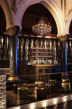 Urban HotSpot: FROM CHURCH TO MODERN NIGHTCLUB  Ӂ Puresang maintained various architectural elements from the former Anglican church, most noticeably the arches, high ceilings, and extravagant chandeliers.