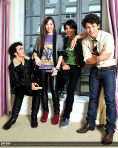 Jonas Brothers & Demi Lovato, a long time ago. Wow, look at their cute little faces