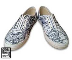 Shoes with ink By: Serious  To see more detail click here:  http://seriousart.net/HTML_folder/Shoes-W-Ink/Shoe_05.html