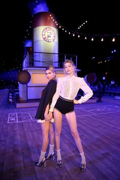Pin for Later: Set Sail With Tommy Hilfiger's Autumn/Winter 2016 Show Gigi Hadid and Hailey Baldwin Struck a Pose on the Boat Deck