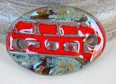 Bracelet bar of stoneware . By Mª Carmen Rodriguez ( Majoyoal ) https://www.facebook.com/groups/CeramicArtBeadMarket