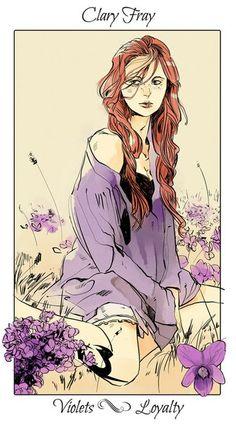 TMI  Cassandra Jean  FanArt  Flower Language  Клэри Фрей - Фиалка- преданность, верность;