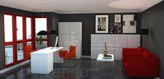 Diseño oficina realizado con mobiliario e iluminación de la firma sueca IKEA. #Reformas oficinas Ikea, Divider, Table, Room, Furniture, Design, Home Decor, Offices, Home