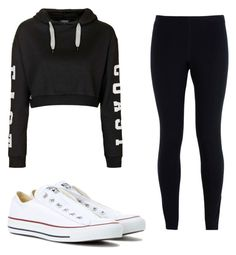 """""""Untitled #32"""" by ashariacalmes133 on Polyvore featuring Topshop, NIKE and Converse"""
