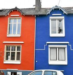 Six des propriétaires de la rue Loucheur (à gauche) ont monté un dossier de demande d'aide, qui a été accepté. Dans quelque temps, les façades de leurs maisons pourront rivaliser avec les couleurs des rues alentour (à droite).