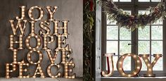 Vintage Illuminated Marquee Word | from Restoration