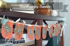 Thanksgiving Banner created with my Silhouette