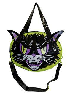 Kreepsville666 - KATTITUDE GOTH ALTERNATIVE HORROR SHOULDER BAG PURSE #infectiousthreads #goth #gothic #horror #punk #alternative #alt #purses #gothpurse #horrorpurse #cats #catpurse