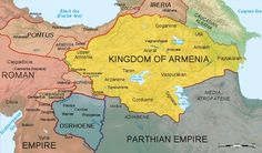 The Ancient Armenian Kingdom in the 1st century of the Common Era (CE).