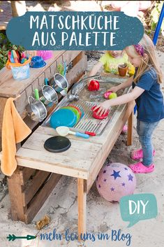 Outdoor Games For Kids, Backyard For Kids, Diy For Kids, Outside Playground, Backyard Playground, Diy Mud Kitchen, Sand Play, Play Houses, Kids And Parenting