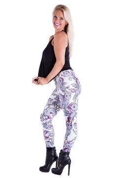 Eric & The Evils leggings £28 by Wild Bangarang #wildbangarang #lostgirls #whatsyourwarcry #printedleggings #wberics