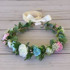 Gender reveal party flower crown