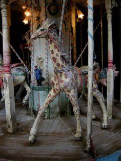 vintage carousel giraffe