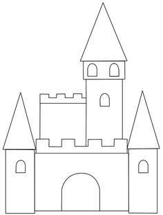 Resultado de imagen para template for castle card Castle Coloring Page, Coloring Books, Coloring Pages, Princess Tea Party, Princess Castle, Frozen Cards, 3rd Grade Art Lesson, Frozen Castle, Cinderella Birthday