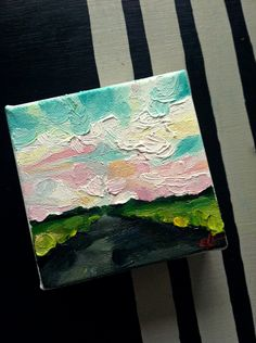 The Greener Place: A little oil landscape painting by Emily Jeffords. $75.00, via Etsy.