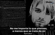 Querer ser otra persona es un desperdicio de la persona que eres. Nirvana, Kurt Cobain Frases, Kurt Cobian, Movies, Movie Posters, Club, Fictional Characters, Amor, Best Quotes
