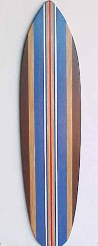 wooden surfboard for Joey's room