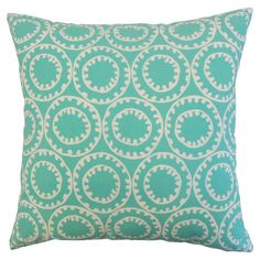 Brooke Indoor/Outdoor Pillow in Turquoise  at Joss and Main