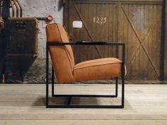 Leren fauteuil Pesara - ROBUUSTE TAFELS.NL Unieke robuuste maatwerk meubelen!