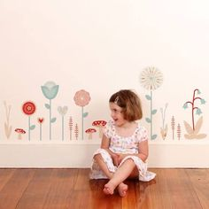 little girls wall decal - Google Search