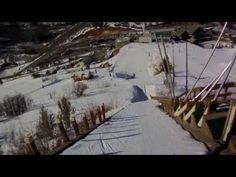 4th grade girl ski jumps 65-meter for the first time