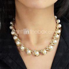 f3c0e0ebfaae Mujer Perla Collar de hebras Collar con perlas Perla damas Moda  Gargantillas Joyas Para Boda Fiesta Diario Casual