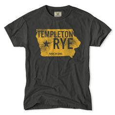 Templeton Rye Whiskey State T-Shirt  $34