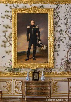 Salon Chinois (15) - Palais Catherine - Tsarskoie Selo - Réalisée par Bartoloméo Rastrelli - Portrait d'Alexandre Ier.