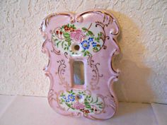 Lovely MidCentury Vintage Porcelain Light Switch Cover Switch Plate Cover Japan on Etsy, $14.99