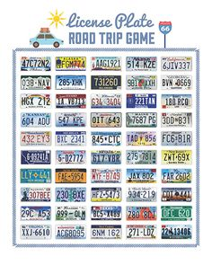 Searching for some road trip fun? Try our printables like this license plate game! #iMOM #freeprintables
