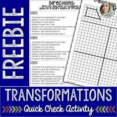 math worksheet : this quick check activity worksheet requires students take one  : Multiple Transformations Worksheet
