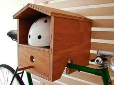 Bike Rack Birdhouse Wall mounted WOOD indoor bike rack. от DIMINI
