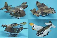 WWII SD Messerschmitt Me 323 Gigant Free Aircraft Paper Model Download