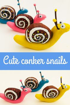 This is such a lovely autumn craft for kids and a great way to use conkers. Gather conkers on an autumn walk and then spend a lovely afternoon crafting and turning them into little snails. Fall Crafts For Toddlers, Easy Fall Crafts, Easy Arts And Crafts, Toddler Crafts, Crafts To Do, Preschool Crafts, Autumn Activities For Kids, Conkers Craft, Snail Craft