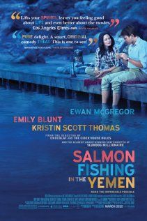 [capsule review] Salmon Fishing in the Yemen - A decent movie.  I'm not sure I really bought the love brewing between Blunt and McGregor as both were a little closed and cold.  The British politicians were delightfully wacky.  (iPad rental, 7/27/2012)