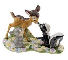Bambi, Flower & Thumper salt & pepper shakers set
