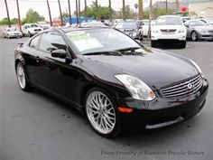 2005 Infiniti G35 Coupe  Very Clean CAr !! Comes Loaded !! It Has Premium Wheels !! Navigation, Heated Seats , Leather Interior,  Xenon Headlights ! Come And See It !! This Car Has Lots Of Power To Spare !!  Riverside Premier Motors    247 W. La Cadena Dr  Riverside, CA 92501  Phone: 951-682-7770