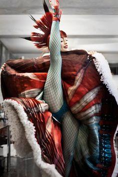 Psykko Tico, the famous Moulin Rouge dancer @ the JP Gaultier fashion show
