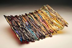 Bark Wave Series 13x16. Layers of texture and color. Made by and available at Prairie Glass Studio in Topeka, KS.