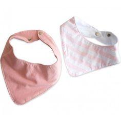 Kit 2 Babadores Bandana para Bebê Menina                                                                                                                                                      Mais