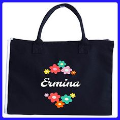 Ermina Custom Gift Personalized With The Name Ermina On It - Tote Bag - Top handle bags (*Amazon Partner-Link)