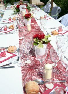 Mariage rouge et blanc.