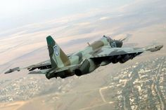 "Ukrainian Air Force Sukhoi Su-35 ""Frogfoot"" ground attack aircraft."