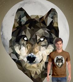 Camiseta Wolf em tons de Chocolate